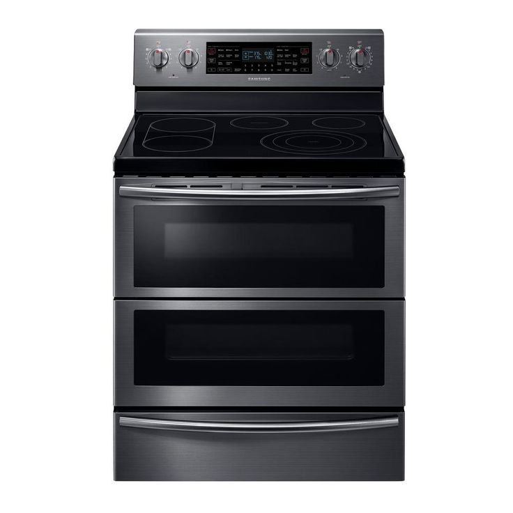 double oven electric range double