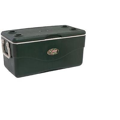 120 Quart Cooler Ice Chest Outdoor Camping Picnic 190 Cans Storage Hunter Green