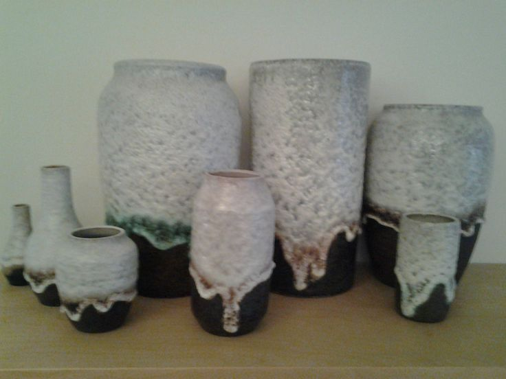 Dutch ceramics from steenuil dripvases The largest is around 26 cm height