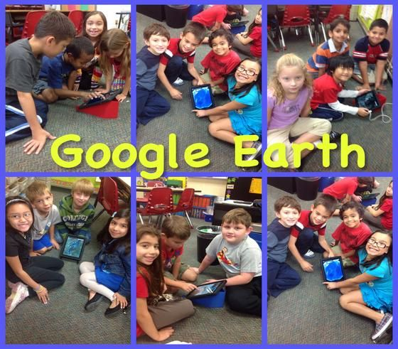 Students use Google Earth to learn about landforms and create a comic using Strip Designer