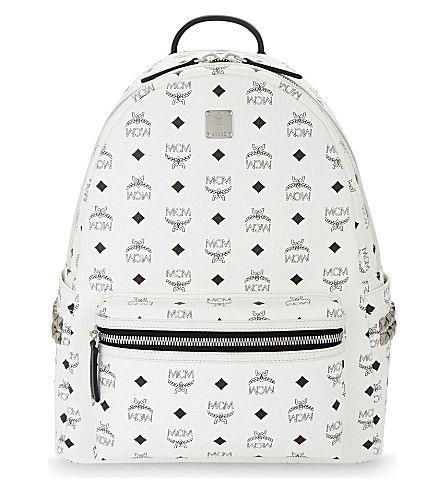 MCM Stark Medium Visetos Backpack. #mcm #bags #canvas #backpacks #