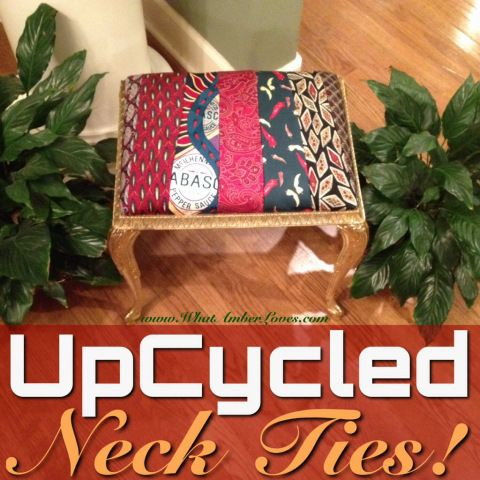 upcycled Neck Ties as upholstery