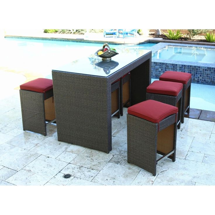 malibu 8 seater patio furniture set. malibu counter height bar set with cushion (counter heights/henna cushion/flat wicker), brown, size 7-piece sets, patio furniture (resin wicker) 8 seater