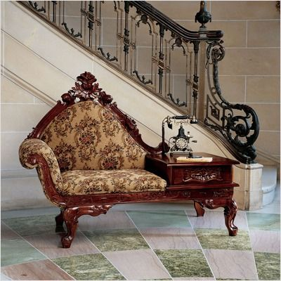 Victorian Gossip Bench. i have never seen one of these before...i really like it!