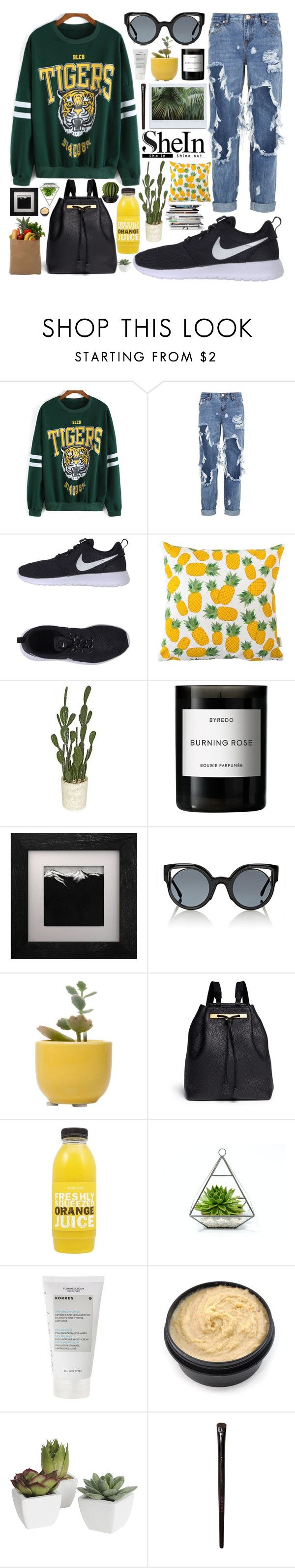 """""""no.53"""" by azrajukic ❤ liked on Polyvore featuring One Teaspoon, NIKE, Rosa & Clara Designs, Byredo, Fendi, Dot & Bo, The Row, Korres, Pier 1 Imports and Bourjois"""