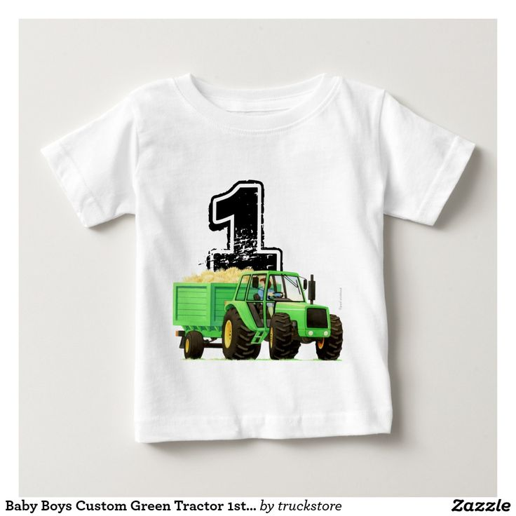 17 best images about baby boy 39 s 1st birthday trucks on for Baby custom t shirts