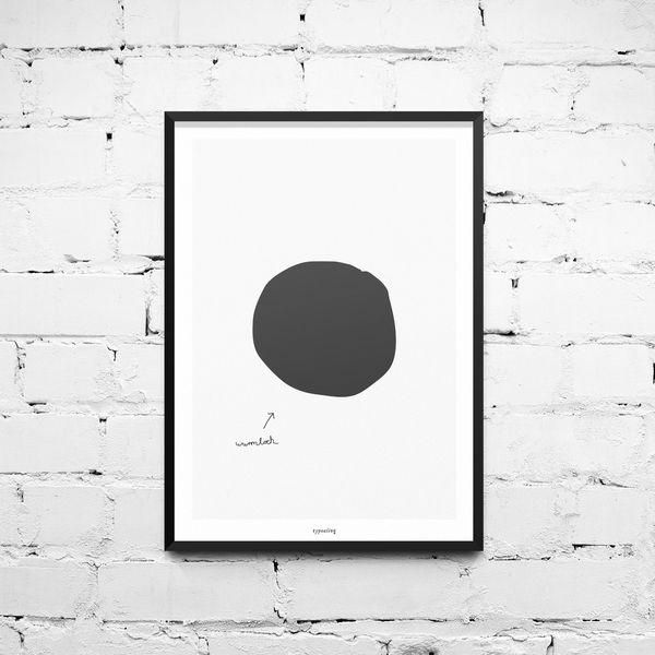 Kunstdruck+Poster+/+Wurmloch+von+typealive+auf+DaWanda.com