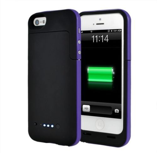 Black and Purple coloured mobile charging case for iphone 6 6s mobile phones available from our webstore