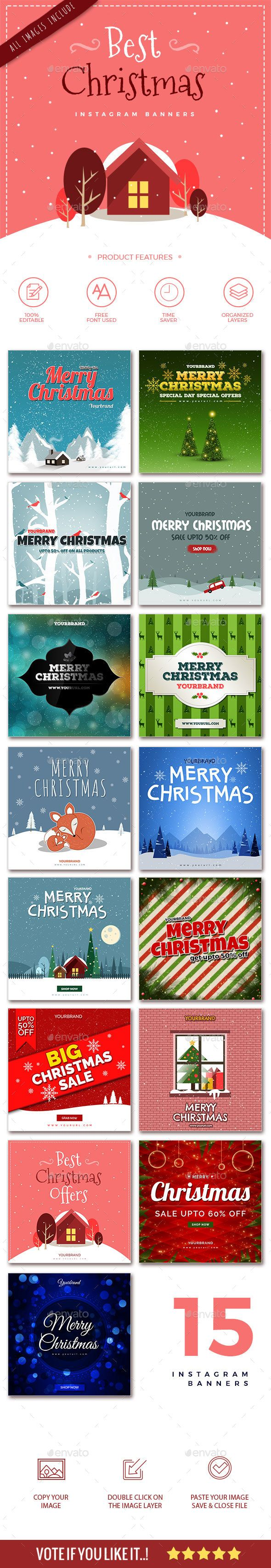 15 Christmas Instagram Banners - Social Media Web Elements box, bundle, business, celebration, christmas, clothes, color, cover, discounts, facebook, facebook cover, facebook fashion, image, image banner, instagram, link, link banner, New Year's Eve, offers, profile, retro, sales, season's greetings, shop online, social media, special price, timeline, timeline cover, web