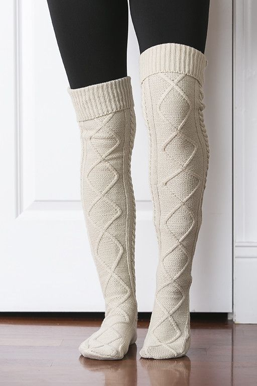 Tall Cable Knit Boot Socks (Several Colors)