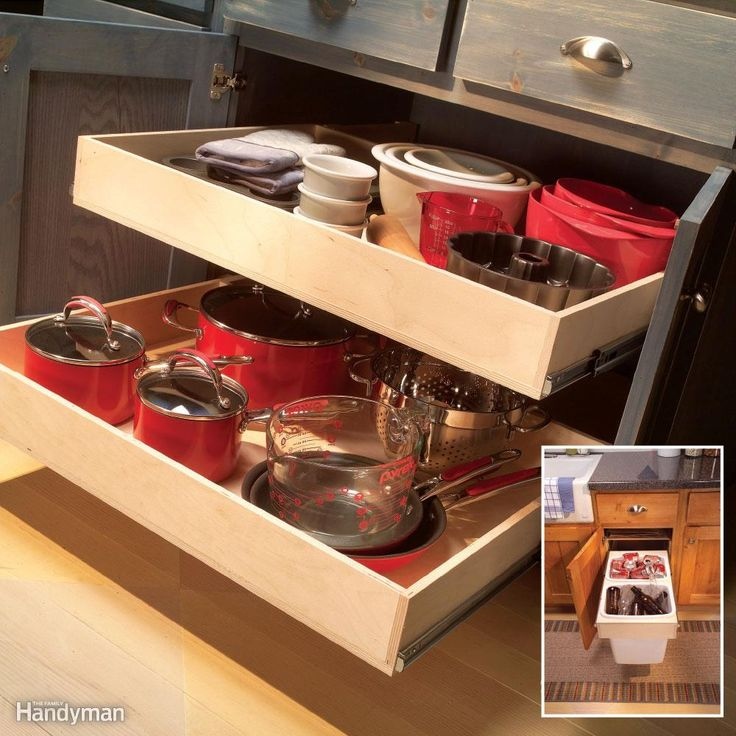 7 RollOut Drawers You Can Build Yourself