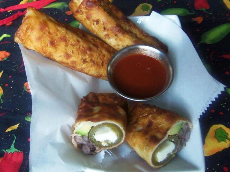 """""""The Bomb"""" Tex-Mex Egg Rolls - Hispanic Kitchen"""