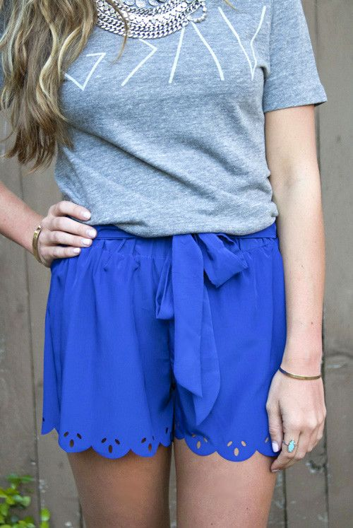 Your Royal Blue Shorts from Rio Ritz Boutique