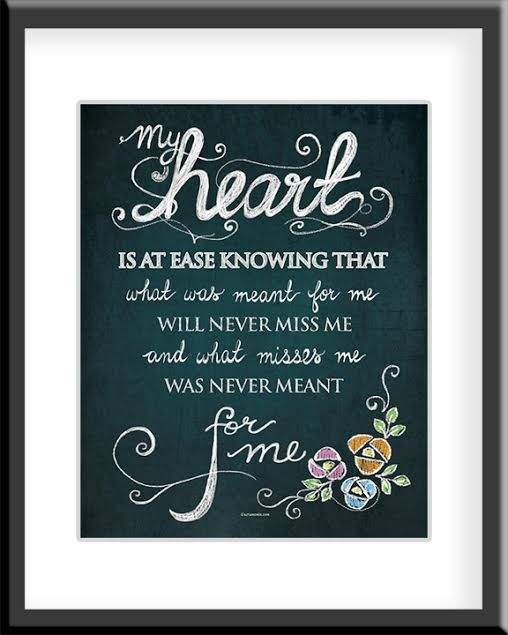 My Heart is at Ease DIGITAL Print by HafsaCreates on Etsy