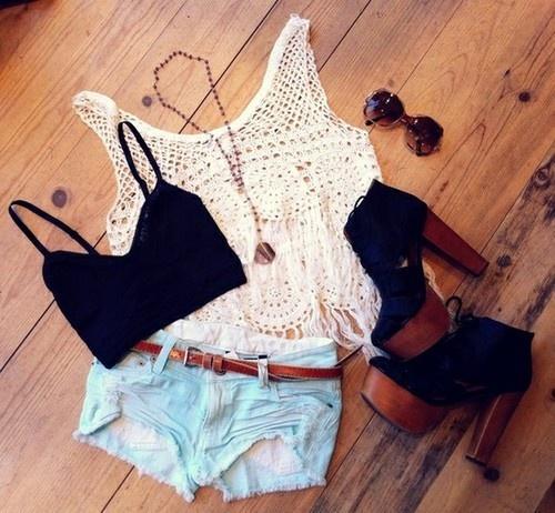 summer lovin: Shoes, Summer Fashion, Crop Tops, Summer Style, Cute Outfits, Cute Summer Outfits, Style Summer, Style Clothing, Summer Clothing