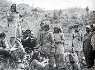 """The Chipko movement; the original tree huggers! """"What do the forests bear? Soil, water, and pure air, Soil, water, and pure air. Protect the earth and all she bears."""""""