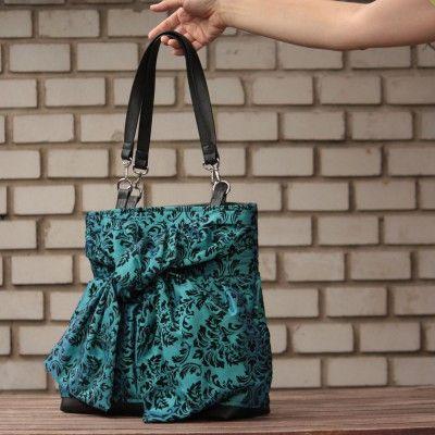 Unique design in combination with special velvet fabric.
