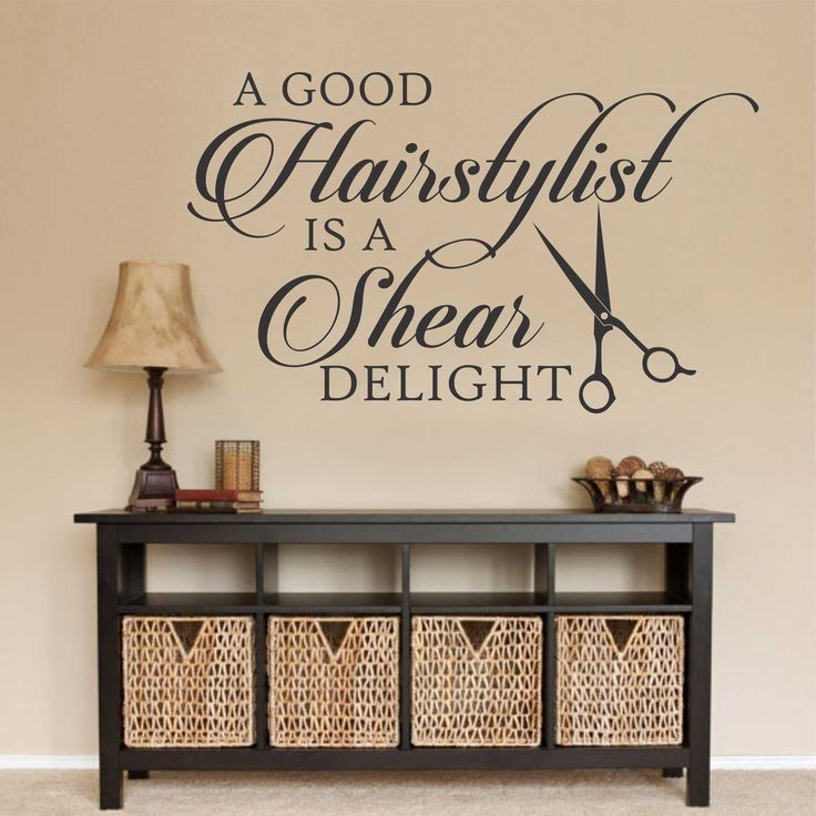 Hairstylists A Shear Delight Salon Hairdresser Shop Vinyl Wall Lettering Decal