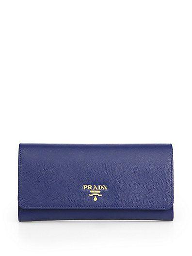Wallets - Small Wallet Saffiano Leather Bluette - blue - Wallets for ladies Prada uRrpshf