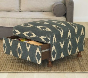 Ikat Storage Ottoman from VivaTerra for $789 This makes sense!