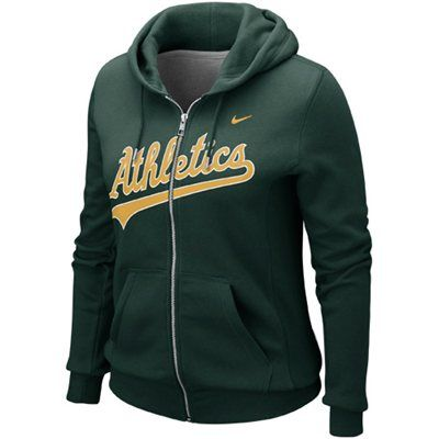 Nike Oakland Athletics Ladies Classic Full Zip Hoodie - Green