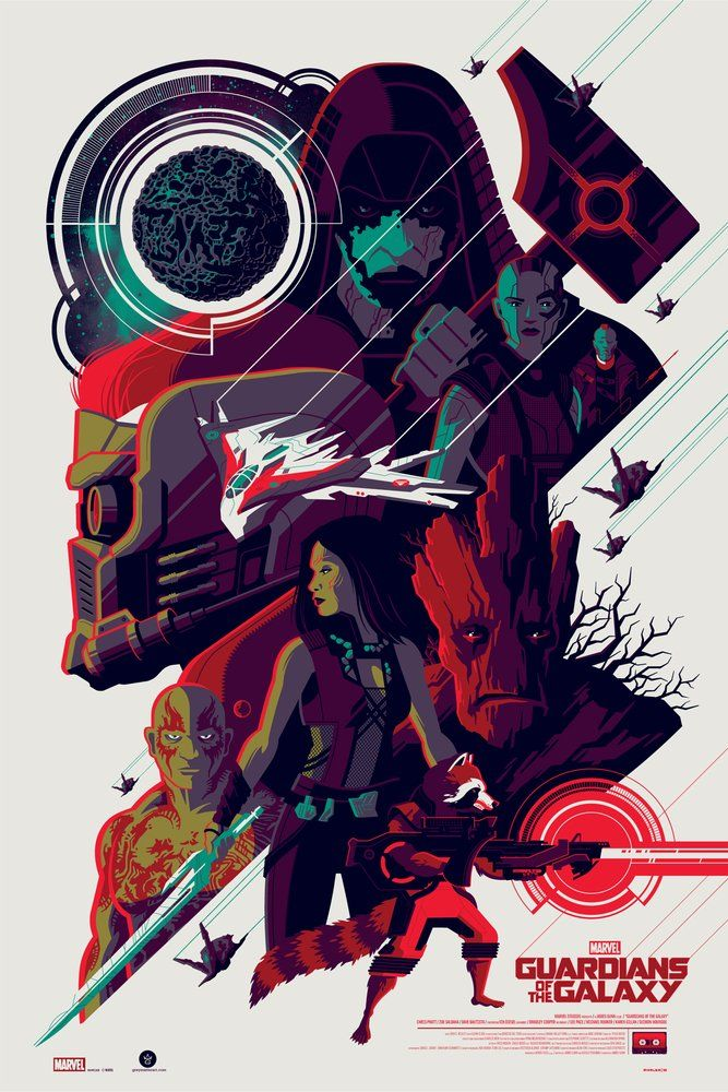 Image of GUARDIANS OF THE GALAXY variant edition screenprint