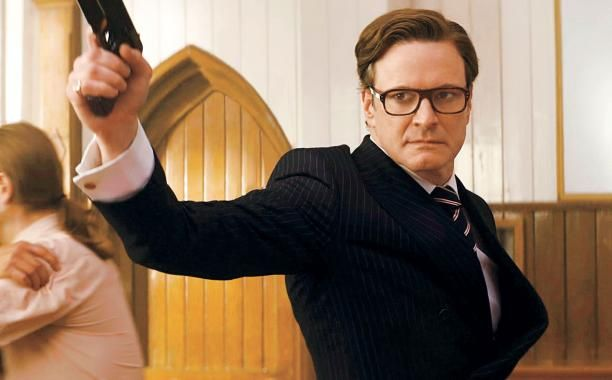 Colin Firth in Kingsman: The Secret Service. After seeing this movie, I am IN LOVE with Colin Firth *__*