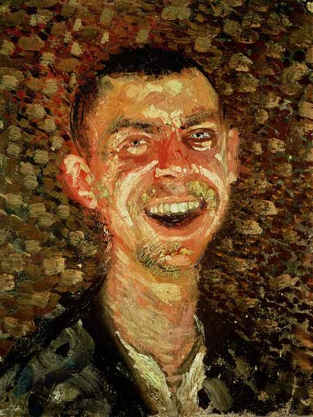 richard gerstl  self portrait laughing, 1907