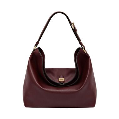Tessie Hobo in Oxblood Soft Small Grain | Tessie | Mulberry