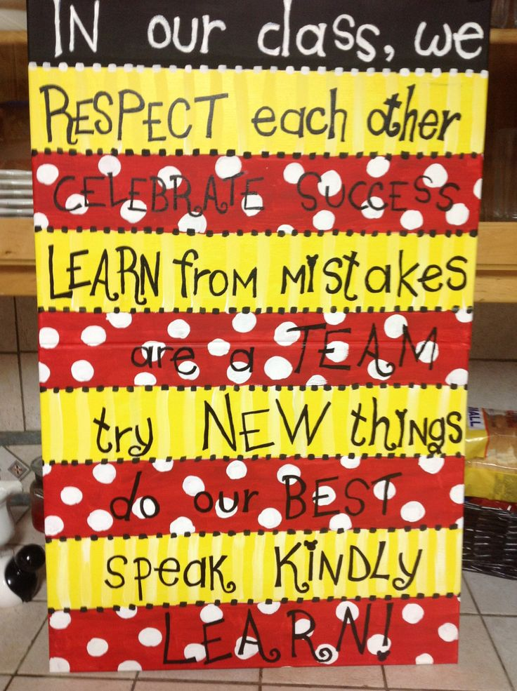 Classroom Expectations With My Mickey Theme Teaching