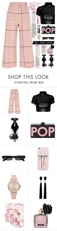 """pop get the look "" by licethfashion ❤ liked on Polyvore featuring River Island, La Perla, Edie Parker, Balenciaga, Vivani, Mignonne Gavigan, Victoria's Secret, Charlotte Russe and licethfashion"