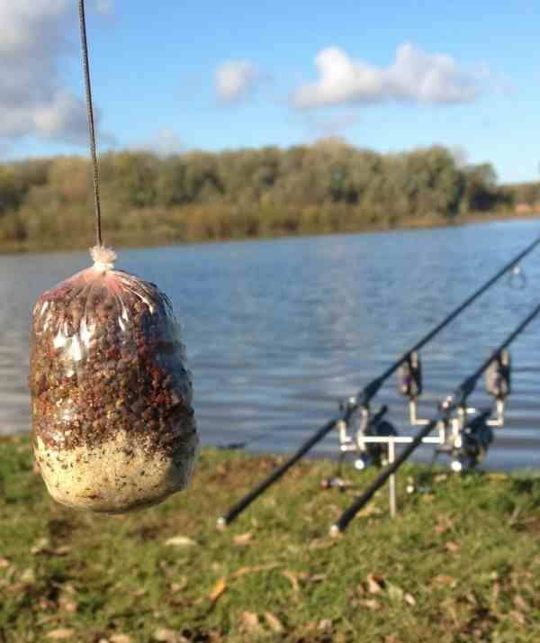 Pva bags are great tools for chumming tight against your for Fishing for carp
