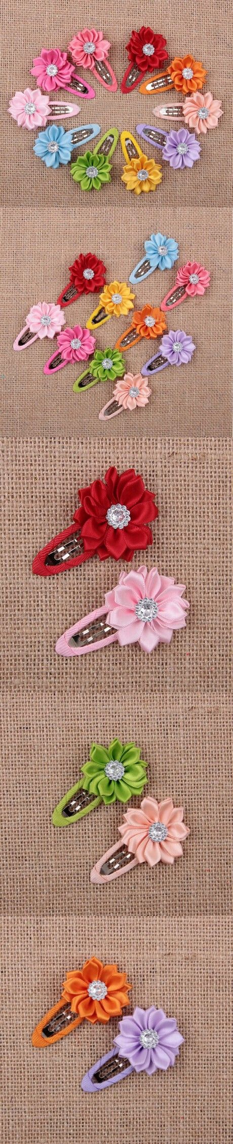 5Pcs/Lot Random Color Girls Hairpins Clip Hair Hair Accessories Cute Flower Hair Clip Baby Headband Princess Headwear Hair Band