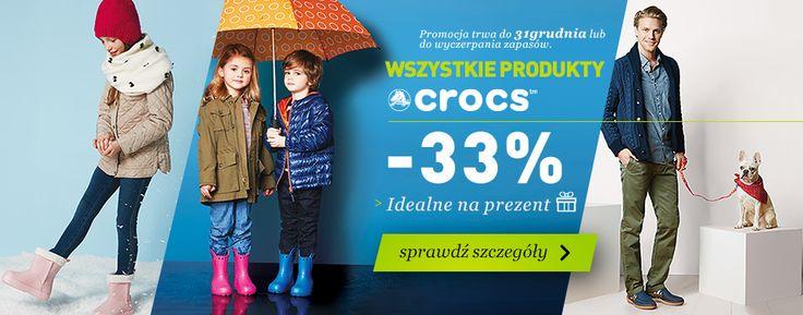 Tylko do 31 grudnia zimowe kalosze i śniegowce dla dzieci marki Crocs -33 % taniej w sklepie Landersen.pl