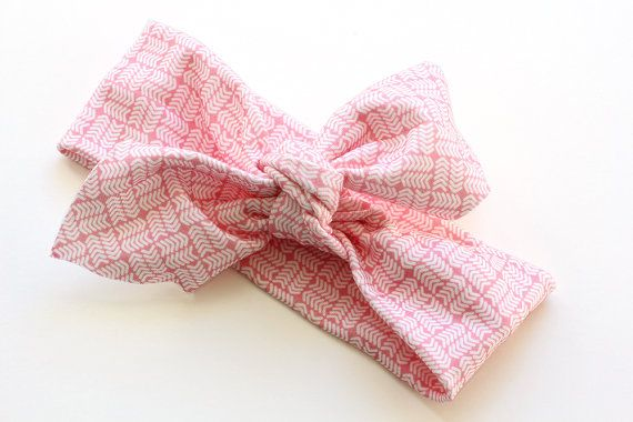 Organic Cotton Headband  Tribal Chevrons Pink  Organic by raenne, $12.00