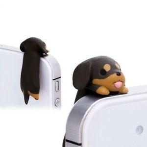 Lovely-Dachshund-Puppy-Cellphone-Jack-Plug-Cute-Dog-Anti-Dust-Ear-Cap-ON-SALE