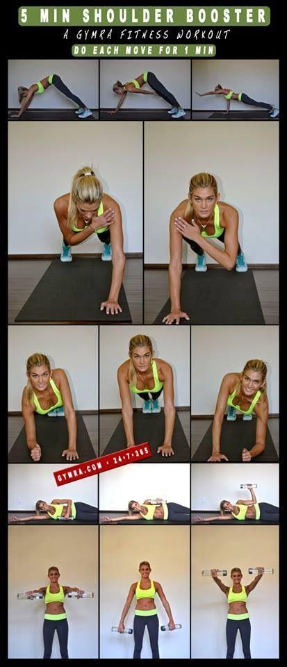 Shoulder workout....killer burn by the second exercise! #ShoulderWorkout