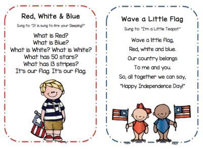 Preschool Songs for 4th of July