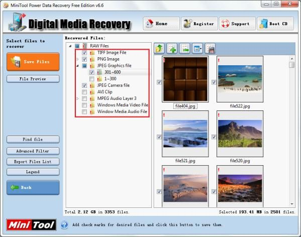 Recover deleted picture with free data recovery software.