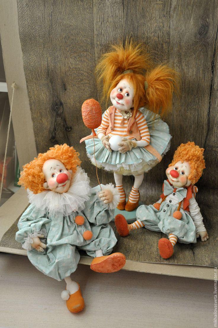 Купить Жаклин - разноцветный, клоун, клоунесса, подарок, подарок девушке, веселый, в горошек, цирк