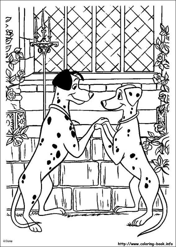 pongo and perdita in love coloring page do you like 101 dalmatians coloring pages you can print out this pongo and perdita in love coloring pagev or