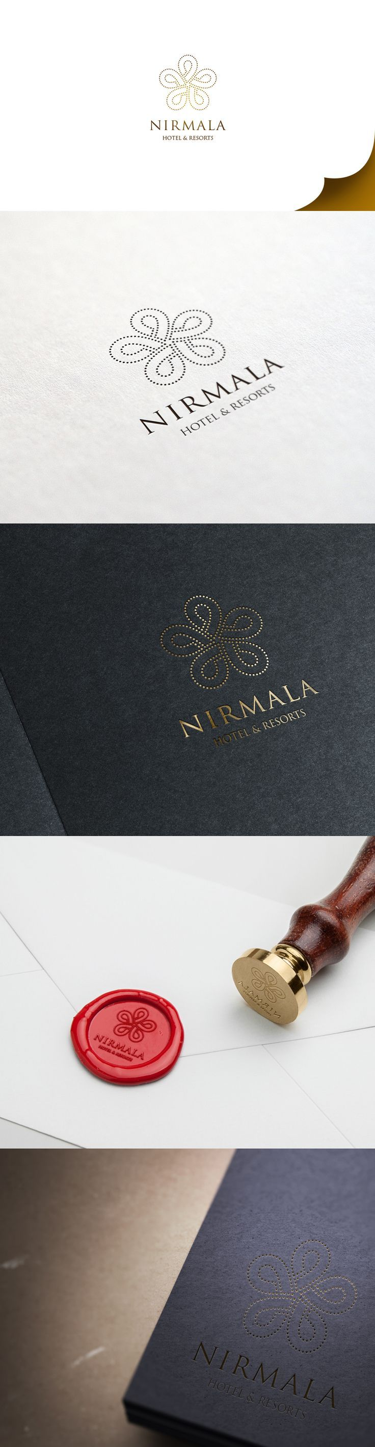 """Nirmala Hotel & Resorts"". Kind of a traditional looking logo design which we have used a floral looking theme & mostly dark brown colors."