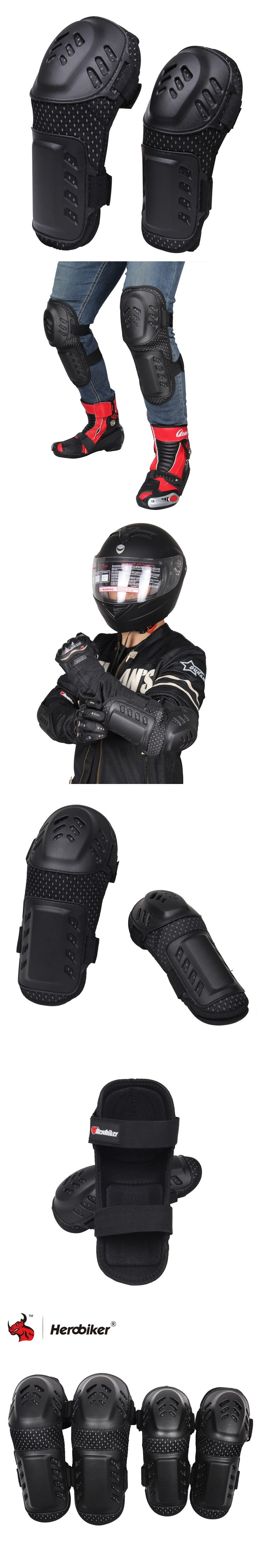 HEROBIKER Motorcycle Motocross Off-Road Racing Knee + Elbow Pads  Set Safety Guards Protective Gear Extreme Sport Protectors