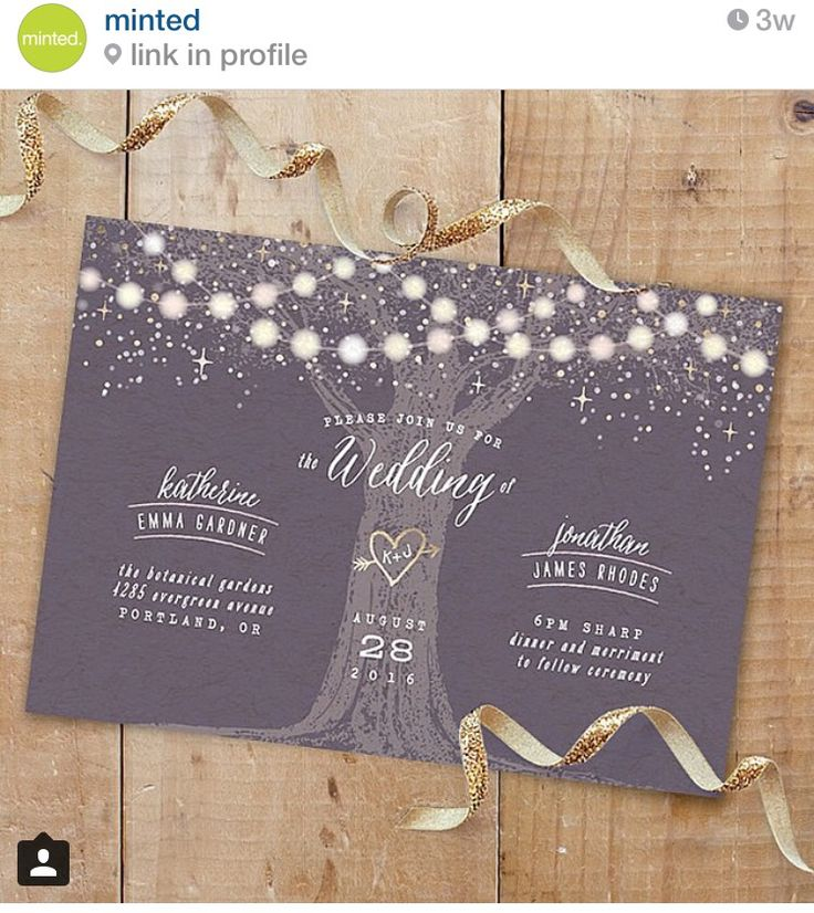 wedding renewal invitation ideas%0A Garden Lights gold foilpressed wedding Save the Date by Hooray Creative   Perfect for a rustic outdoor wedding