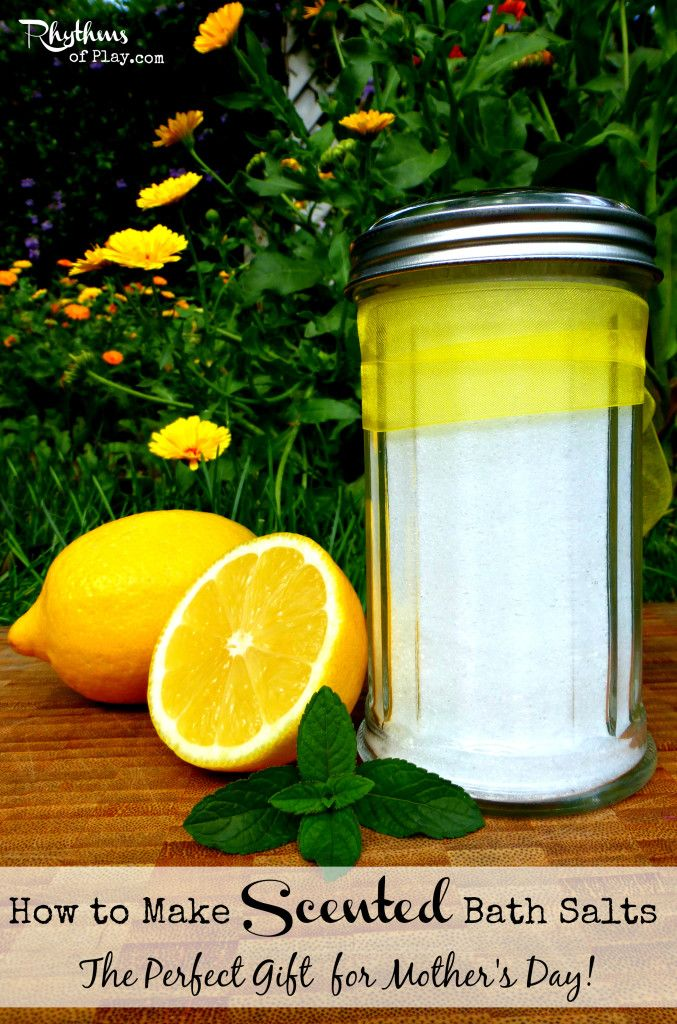DIY scented bath salts make the perfect gift!