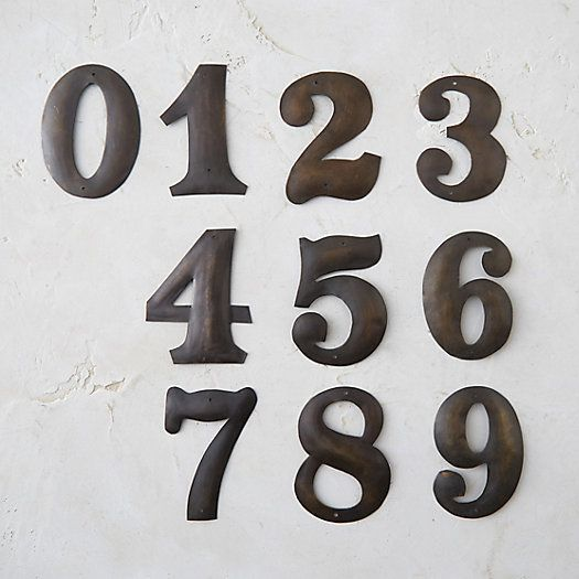 Antique Metal Number