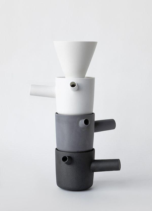PIIPPU ceramic coffee and tea pot by Kaksikko | Habitare 2016
