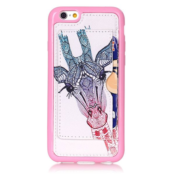 Sale 29% (2.99$) - Fashion Pattern Giraffe Creative Back Holder Protector Case For iPhone 6 6s