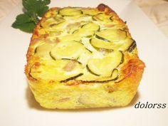 Pastel de calabacín y queso de cabra (light)