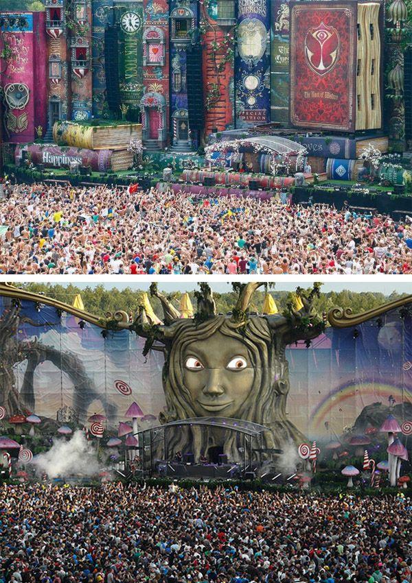 amazing stage setup at Tomorrowland Festival in Belgium